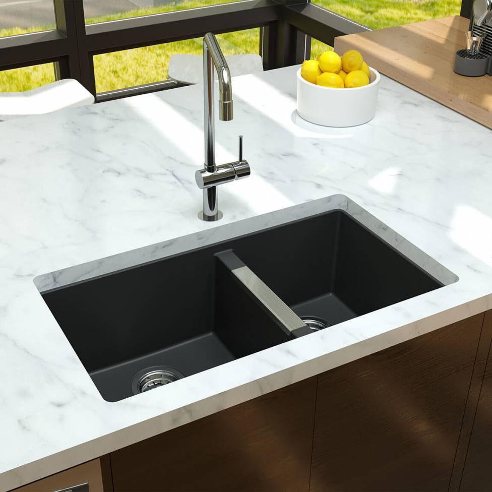Aquae Double Bowl Granite Sink