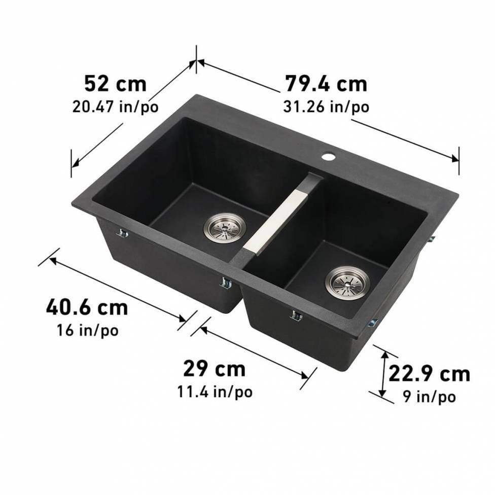 Aquae Double Bowl Sink