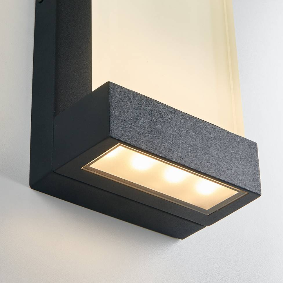 Glacier Integrated LED Outdoor Wall Light