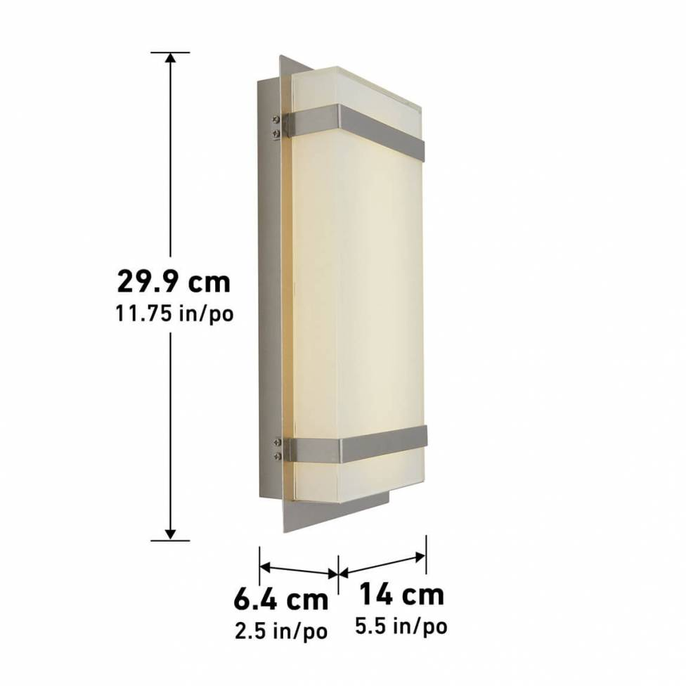 Glowbox Integrated LED Outdoor Wall Light