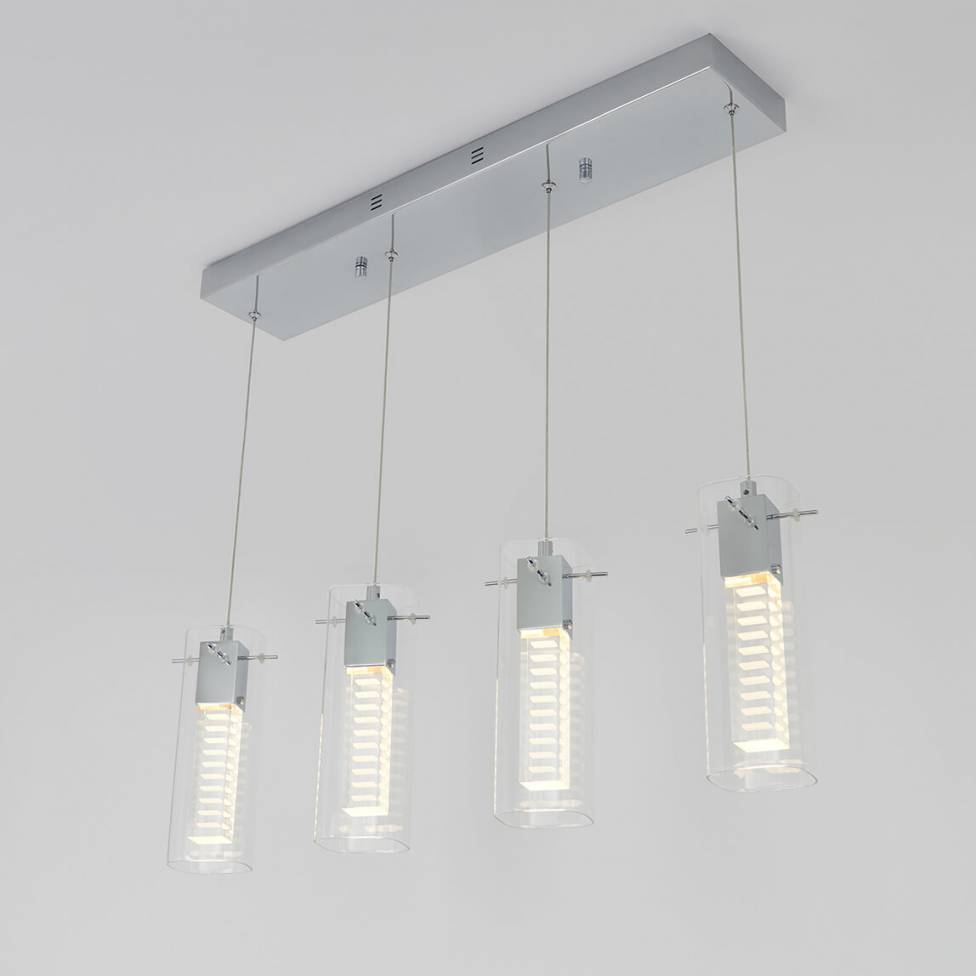 Hologram 4-light Integrated LED Pendant