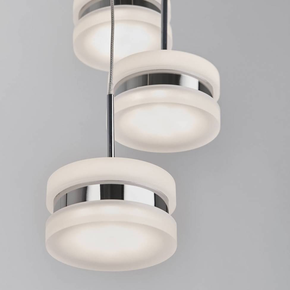 Ibiza 7-light Integrated LED Spiral Pendant