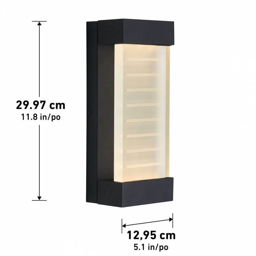 Mizzler Integrated LED Outdoor Wall Light