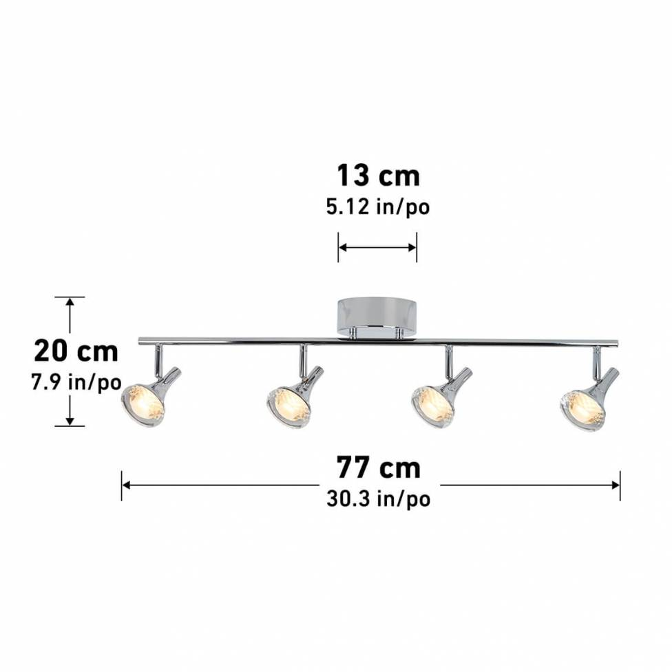 Pixxie 4-light Integrated LED Track Light
