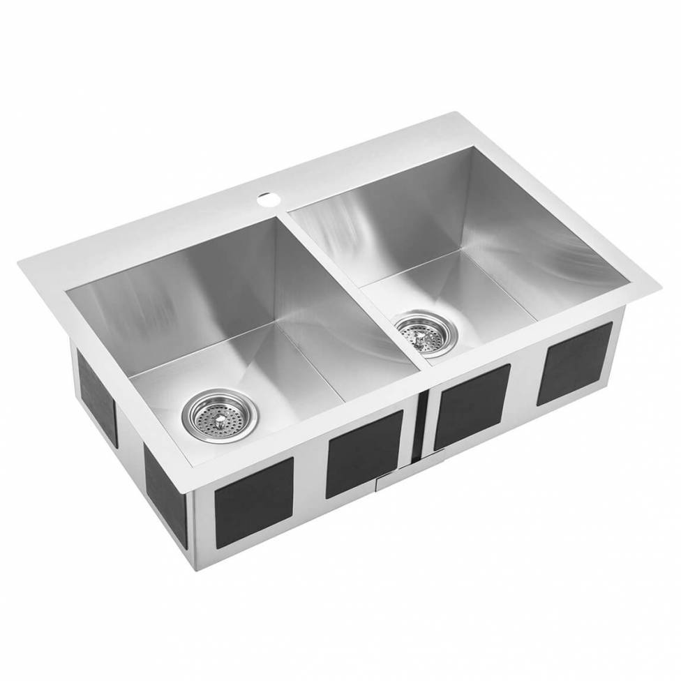 Twin Bowl Stainless Steel Sink