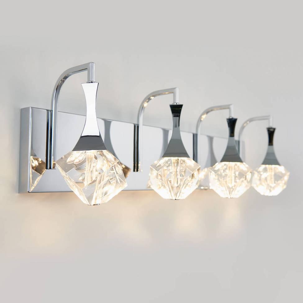 Spontaneous 4-light Integrated LED Vanity Light