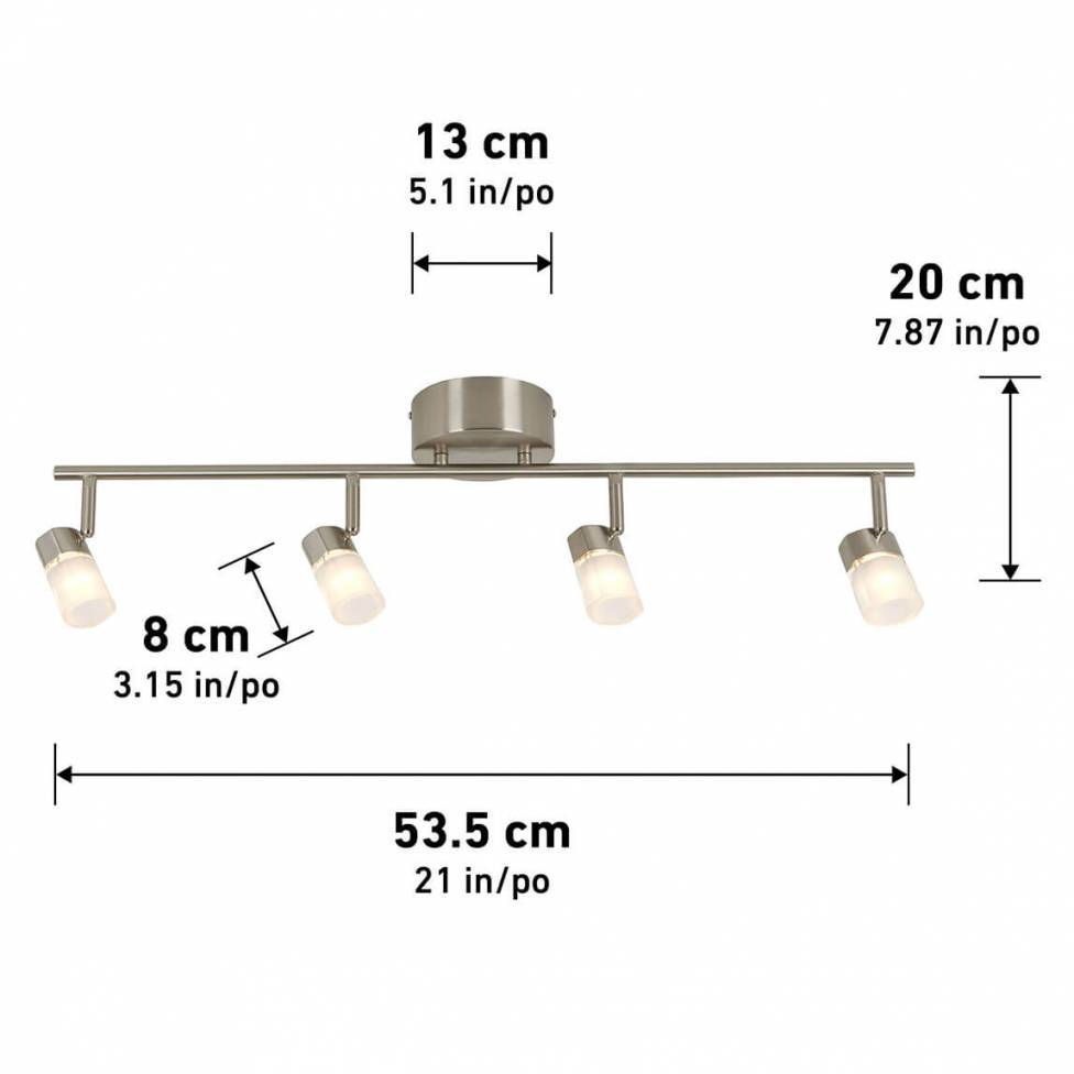 Vars 4-light Integrated LED Track Light