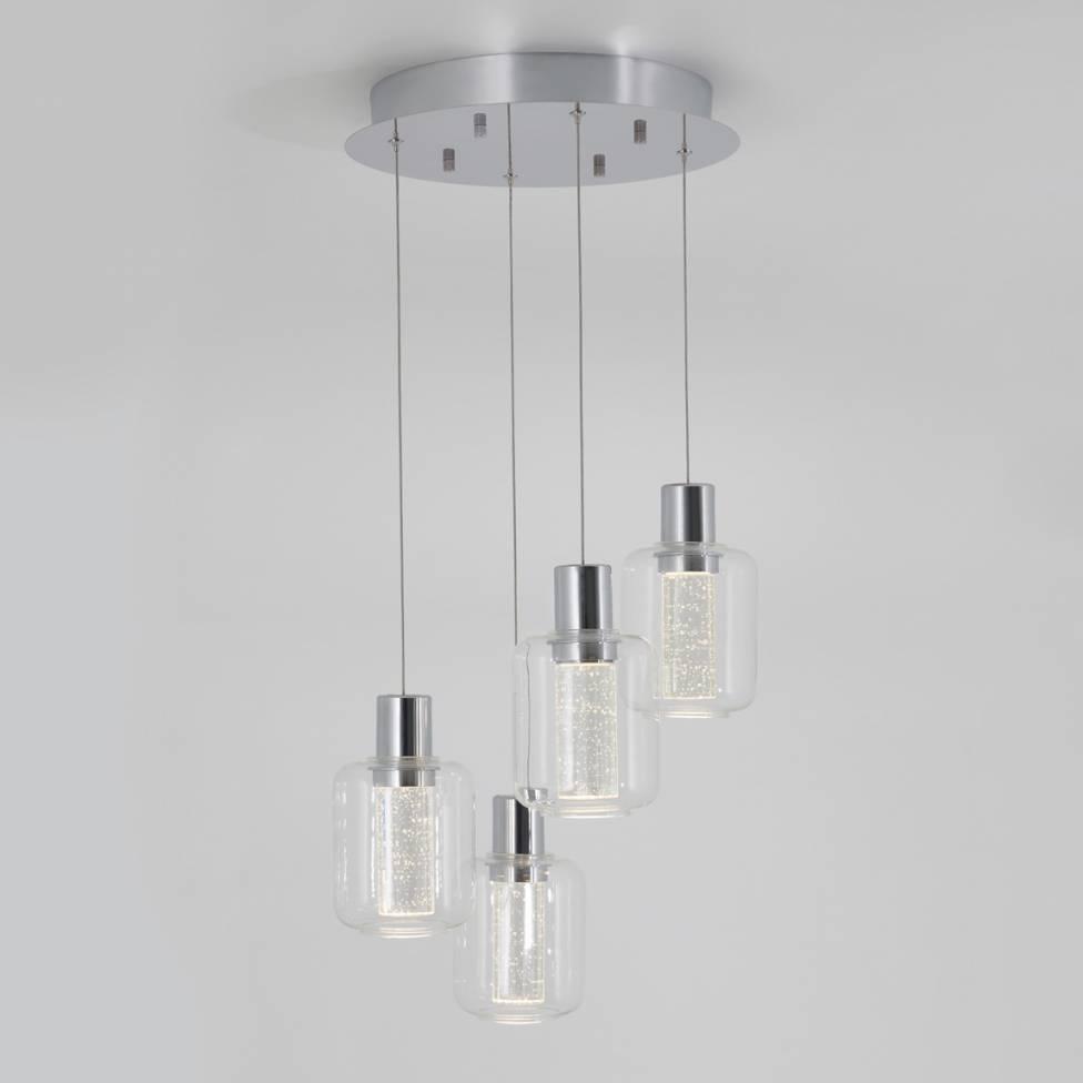 Champagne Globe 4-light Integrated LED Pendant