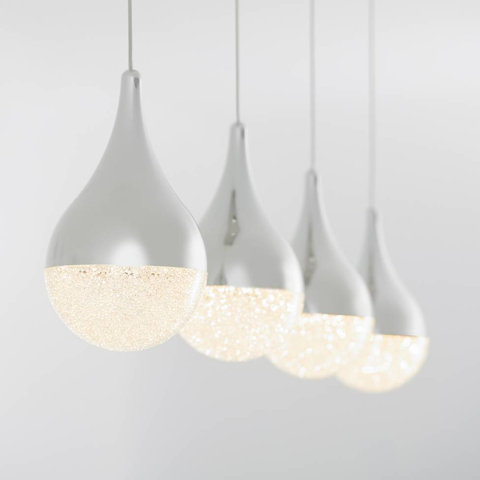 Glitzer 4-light Integrated LED Pendant