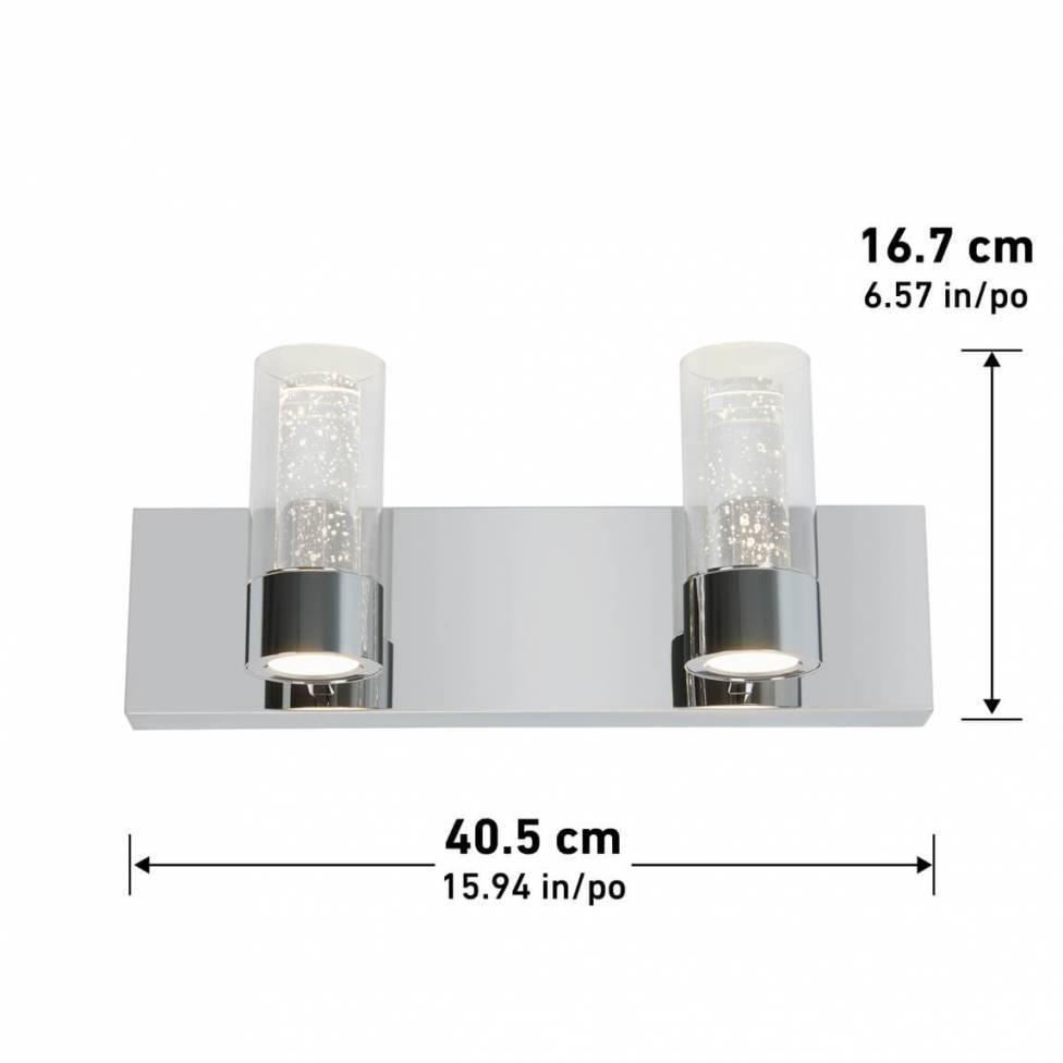 Ratio 2-light Integrated LED Vanity Light