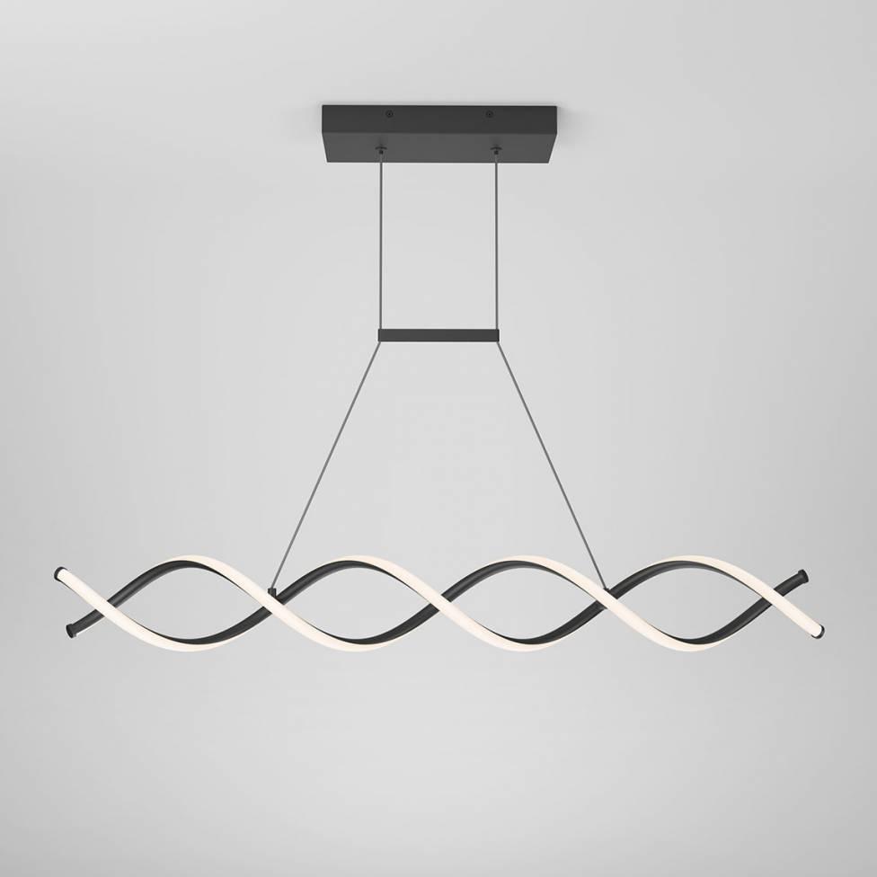 DNA Linear Integrated LED Pendant Black