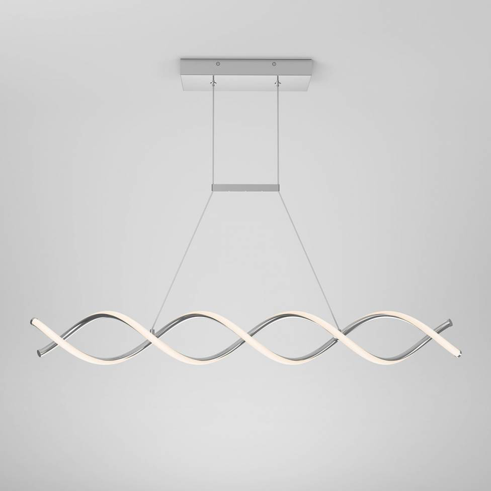 DNA Linear Integrated LED Pendant Chrome