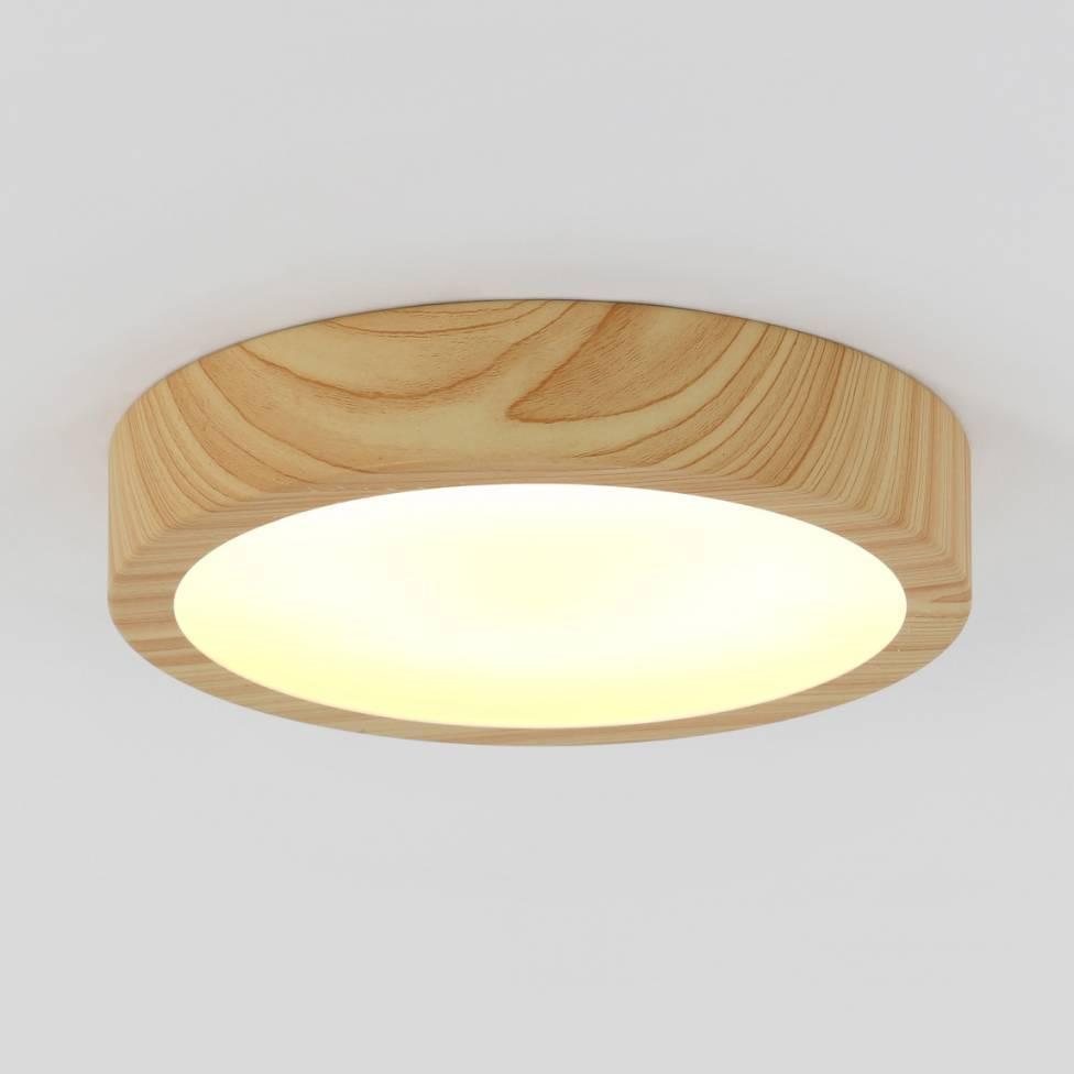 Dryad Integrated LED Flush Mount Wood Effect