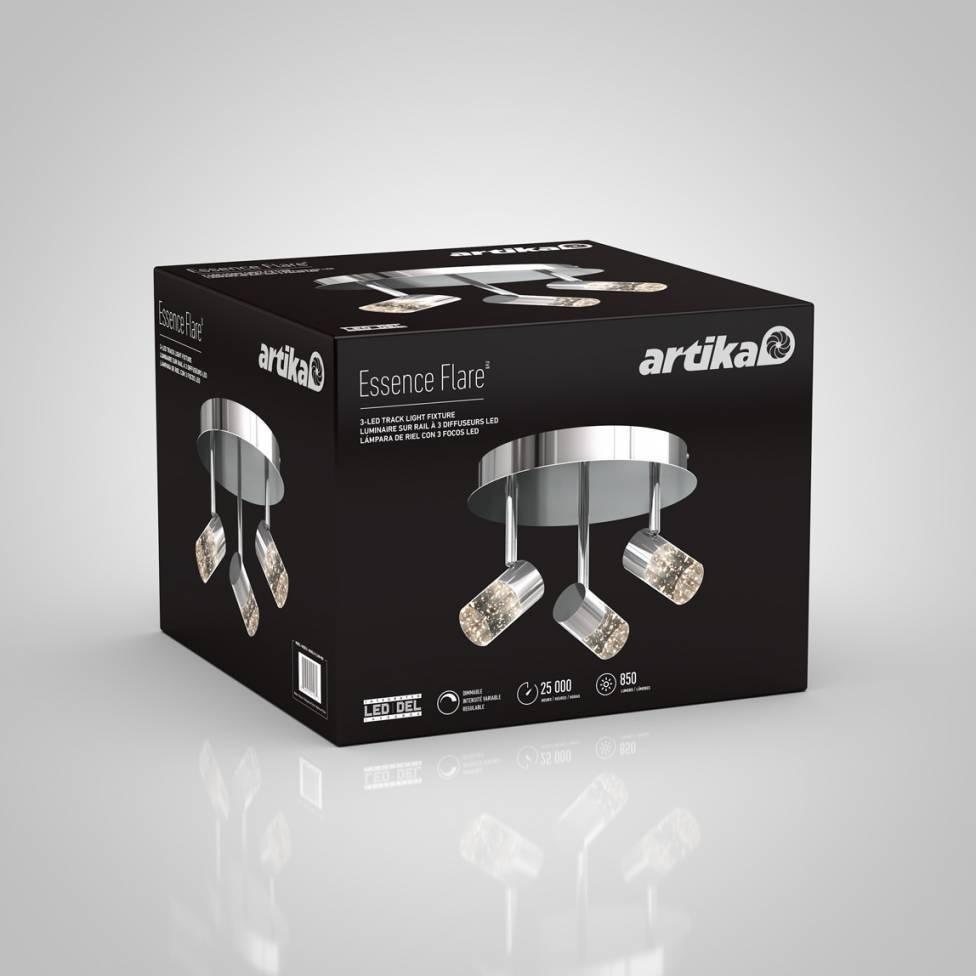 Essence Flare 3-light Integrated LED Semi-Flush Mount
