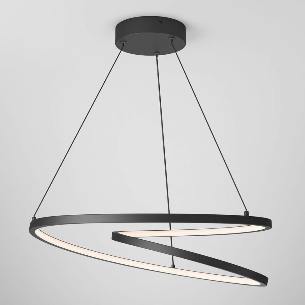 Salto Integrated LED Pendant Black