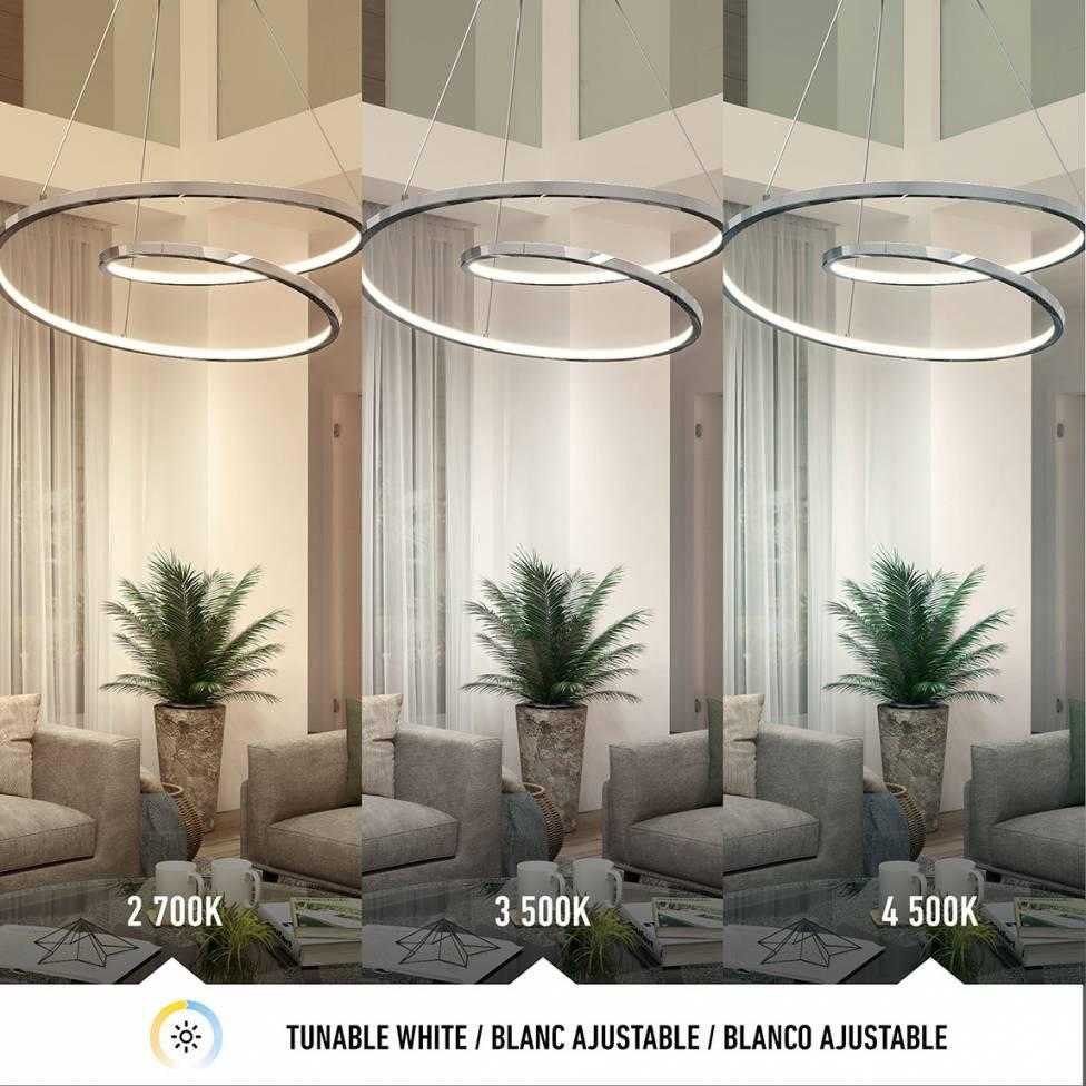 Salto Integrated LED Pendant Chrome