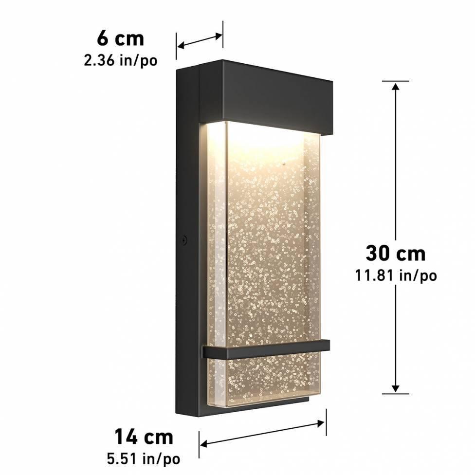 Skyler Integrated LED CCT Outdoor Wall Light Black