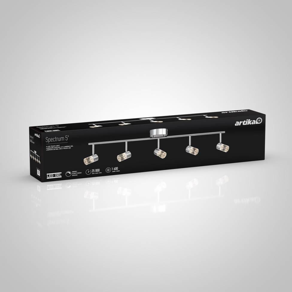 Spectrum 5-Light Integrated LED Track Light