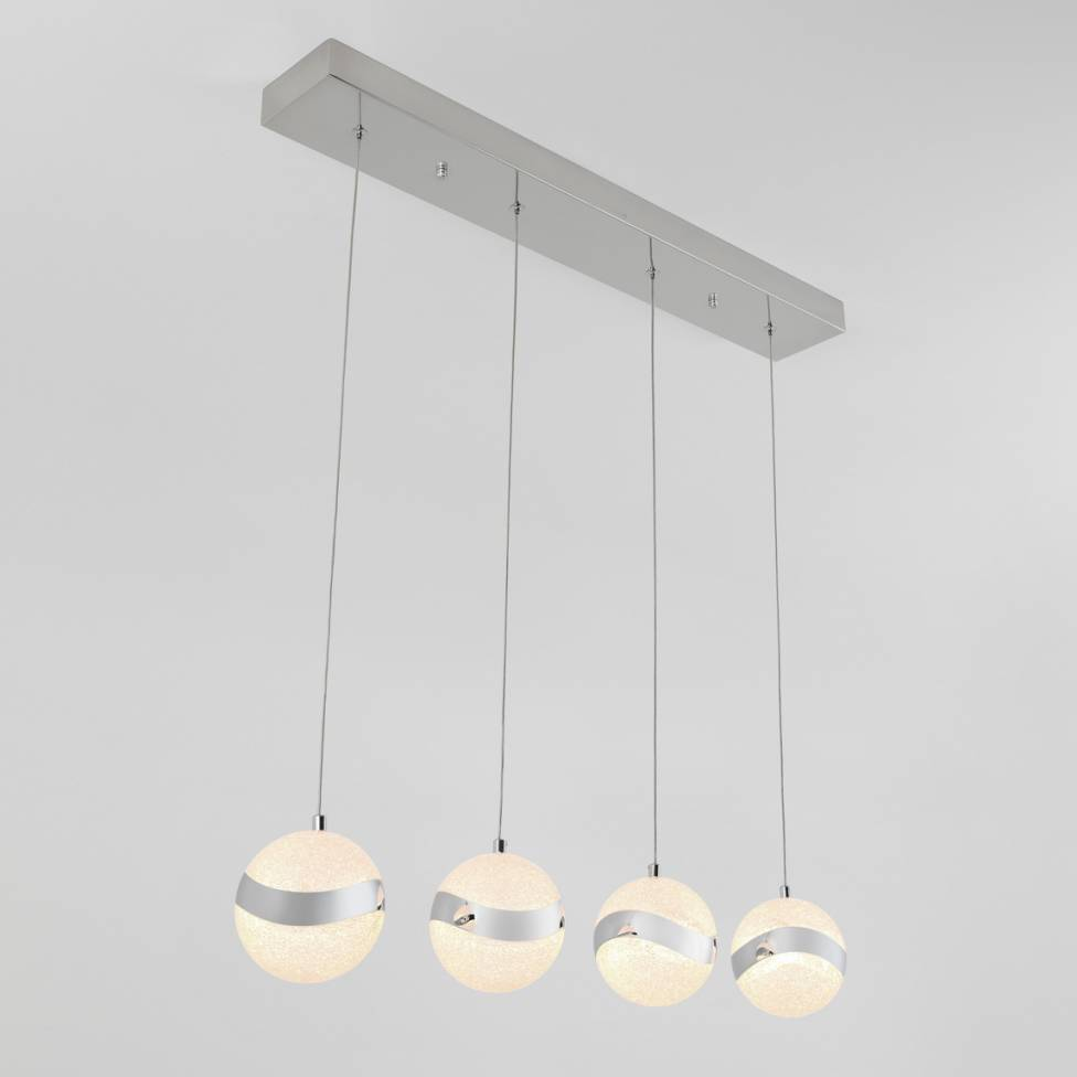 Wavey 4-light Integrated LED Pendant