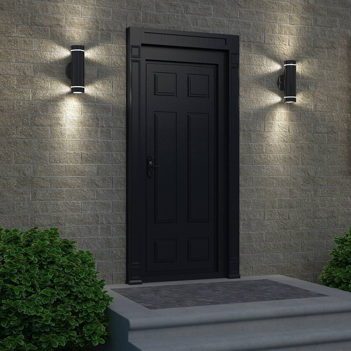C7 Black Outdoor Wall Light