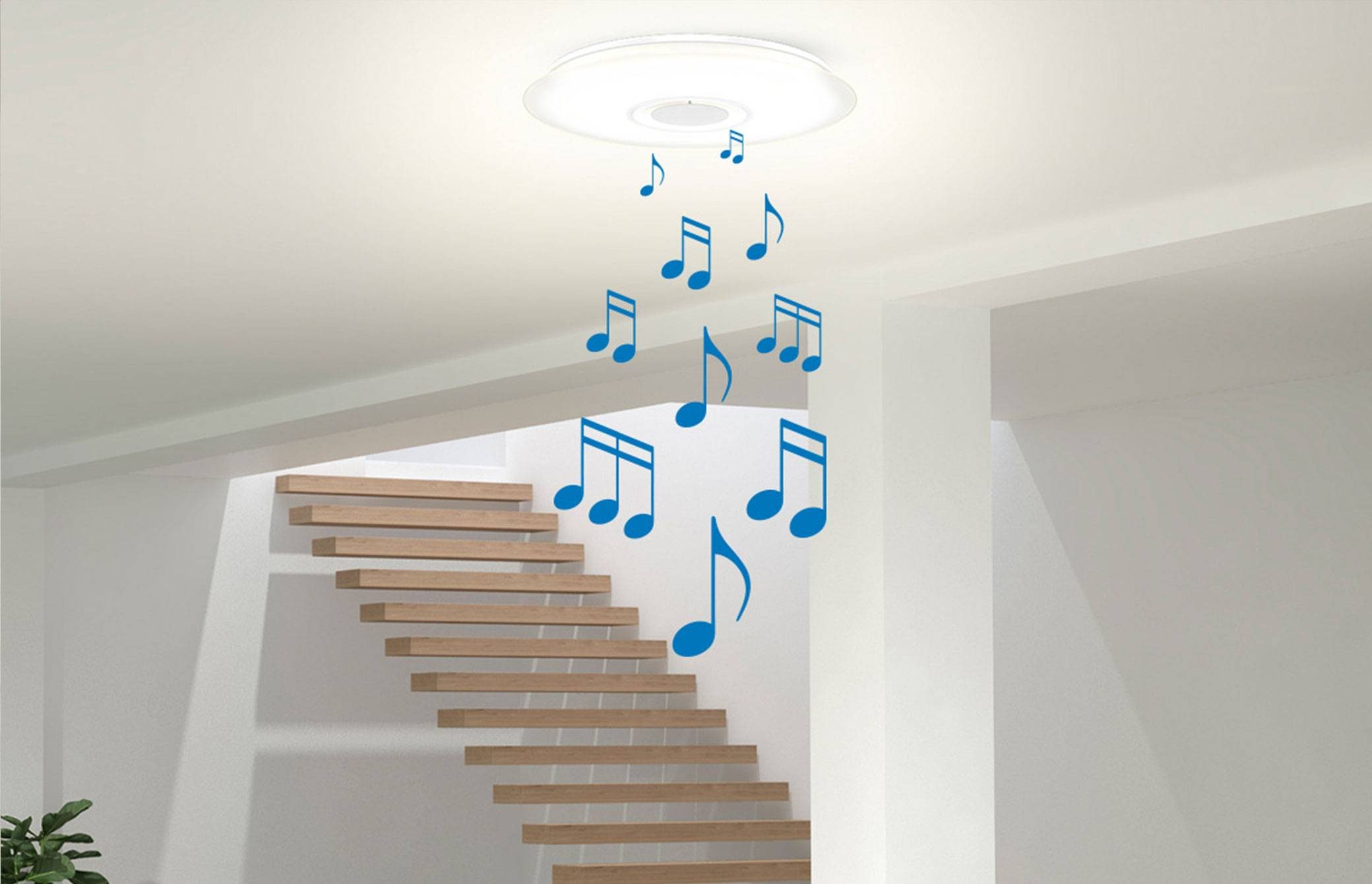 Music coming from your smart light fixture