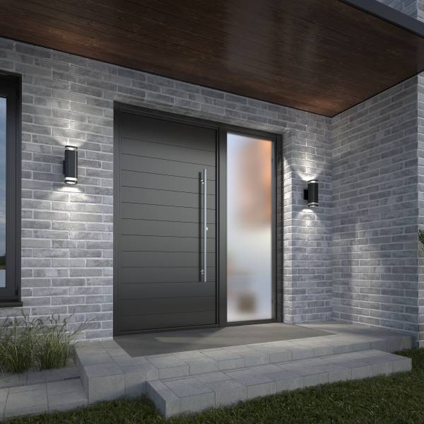 Mettle Integrated LED Outdoor Wall Light Black