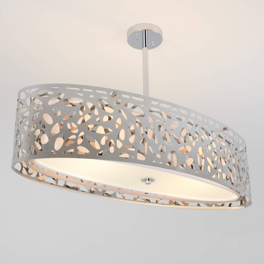 Expression Oval Chrome Chandelier