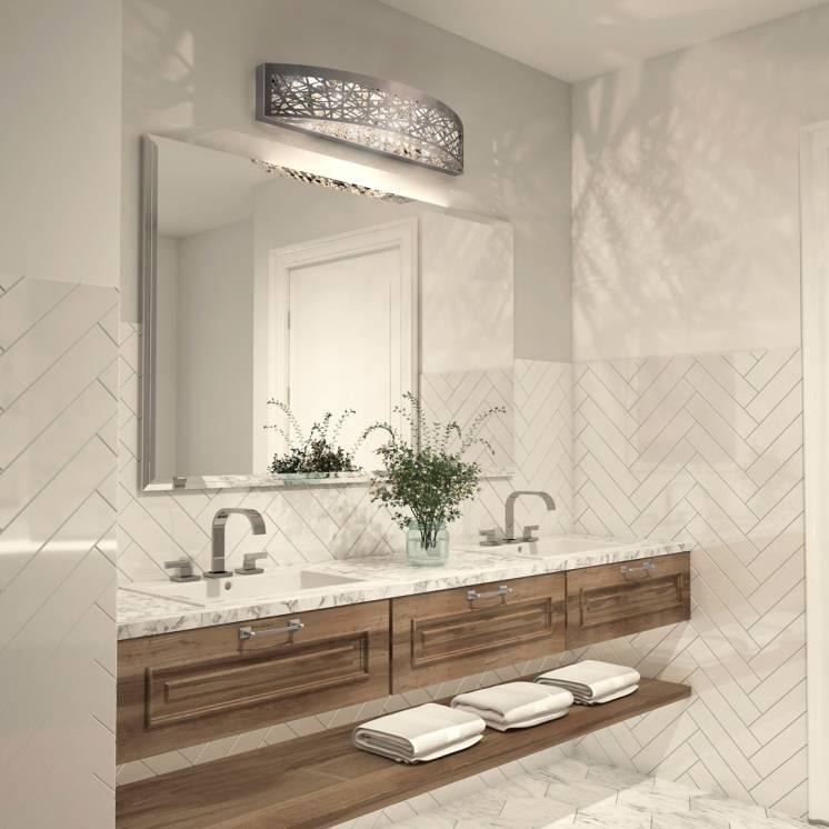 Crystal Nest Applique meuble lavabo à DEL