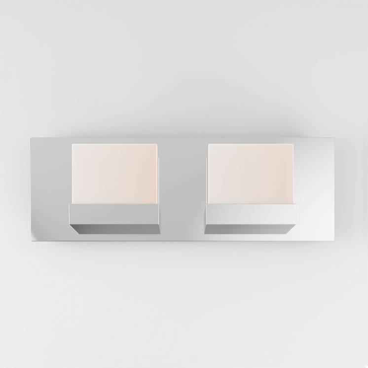 Frosted Cube 2-light Integrated LED Vanity Light
