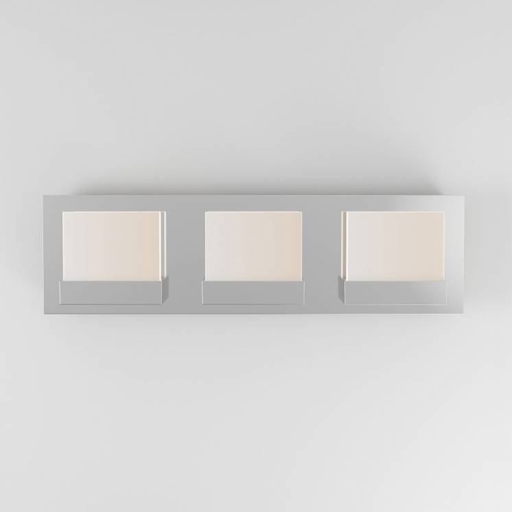 Frosted Cube 3-light Integrated LED Vanity Light