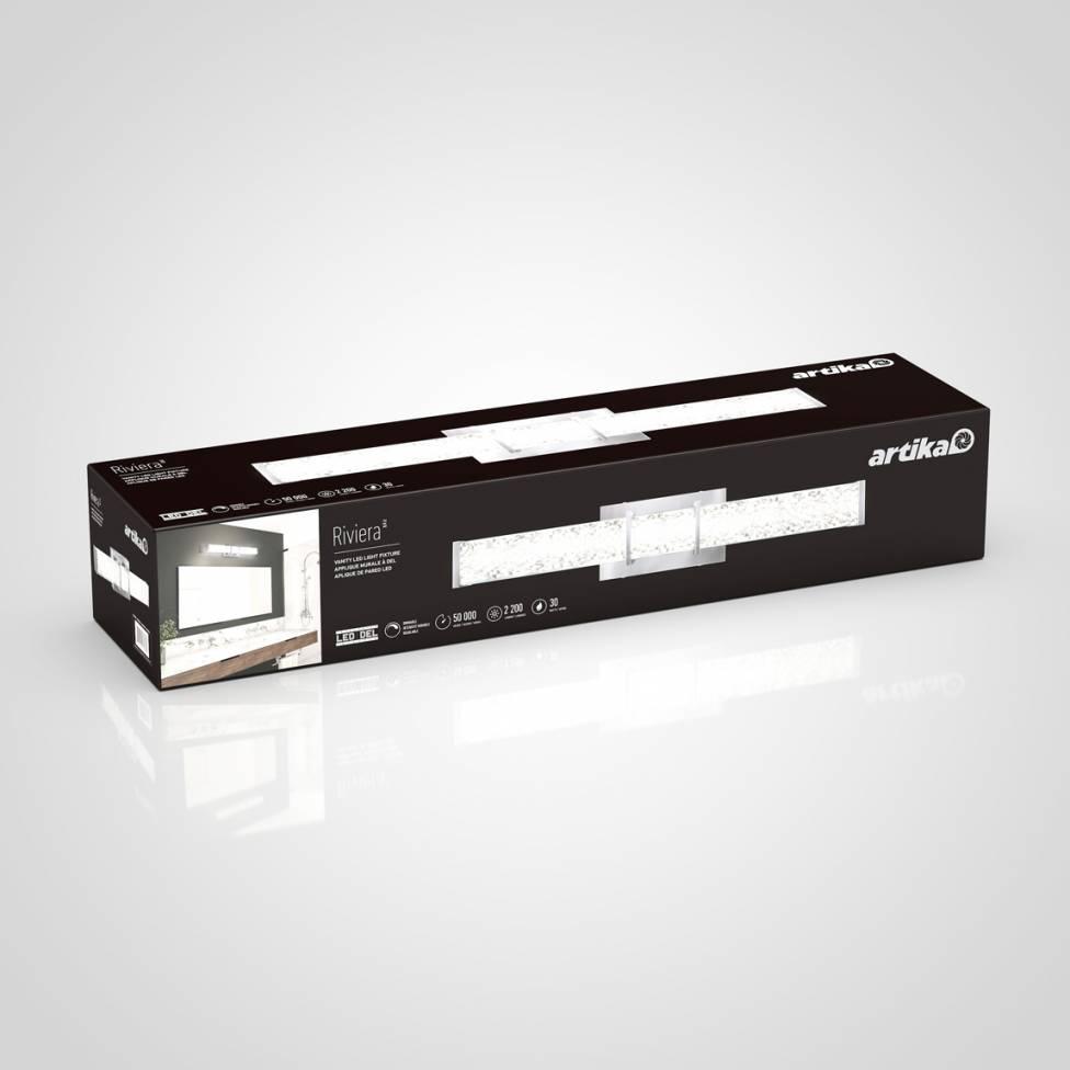 Royale Brushed Nickel Integrated LED Vanity Light